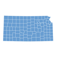 State Map of Kansas by counties vector image