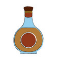 whisky glass bottle vector image