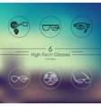 Set of high-tech glasses icons vector image