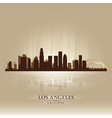 Los Angeles California skyline city silhouette vector image