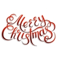 Merry Christmas lettering on a background vector image