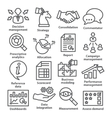 Business management icons in line style Pack 18 vector image