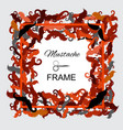 hipster mustache frame vector image