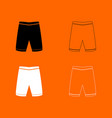 shorts black and white set icon vector image