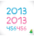 Balloon Happy New Year Date vector image
