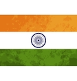 True proportions India flag with texture vector image