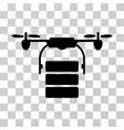Cargo drone icon vector image