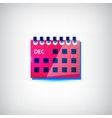 colorful calendar flat icon vector image