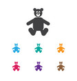 of child symbol on bear toys vector image