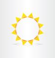 stylized sun rays hot energy icon vector image