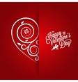 Valentines Day Vintage Card Ornate Background vector image