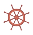 Yacht wheel vector image