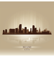Miami Florida skyline city silhouette vector image