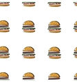 Simless burger pattern vector image