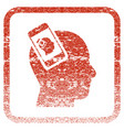 smartphone head plugin recursion framed textured vector image