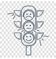 icon silhouette traffic light vector image