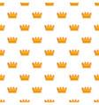 baron crown pattern seamless vector image