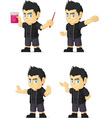 Spiky Rocker Boy Customizable Mascot 12 vector image