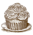 engraving cake vector image vector image