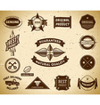 Vintage labels Collection 9 vector image