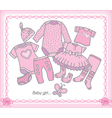 Baby girl clothes vector image vector image
