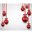 Sale background with christmas balls vector image