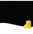 Golden coins gambling background vector image