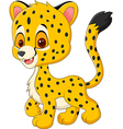 Cute baby cheetah walking isolated vector image