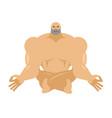 athlete yoga yogi bodybuilder sportsman zen and vector image