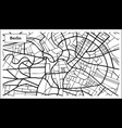 berlin germany map in black and white color vector image