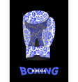 Boxing gloves Russian traditional ornament Gzhel vector image