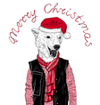 Christmas cute bear vector image