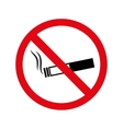 cigarette no warning forbidden vector image