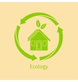 Ecology concept with green house vector image