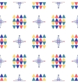 Geometric seamless pattern Textile minimal design vector image