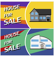House sale banner Cottage in flat style vector image
