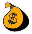 money bag or sack icon icon cartoon vector image
