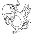 outlined dancing parrot vector image