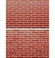 red brick wall vector image