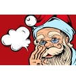 Speaking Santa Comic Style Concept vector image