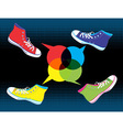 Teenager sneakers social media vector image
