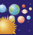 solar system design vector image