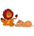 Combing a Lions Mane vector image vector image
