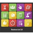 Office and Business icons set vector image vector image