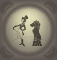 Young woman perform tamer stunt Flappers vector image