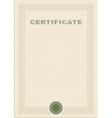 Certificate blank vector image vector image