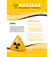 Nuclear document template vector image vector image