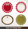 Frame Set ornamental vintage decoration vector image