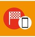 flag mobile phone navigation vector image