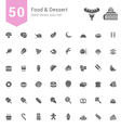 Food and Dessert Solid Icon Set vector image